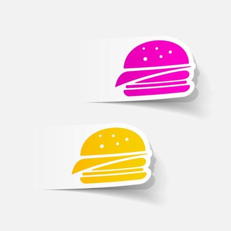 realistic design element: sandwich Vector