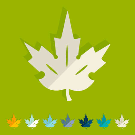 Flat design: leaf