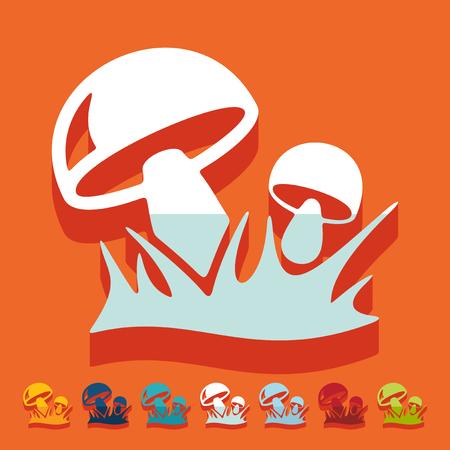Flat design: mushrooms Illustration