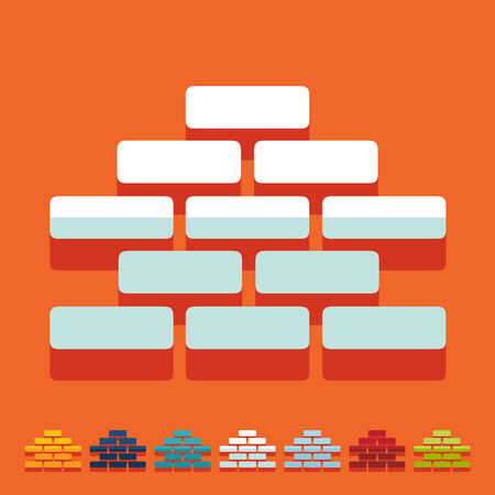 brickwork: Flat design: brickwork