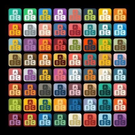 Flat design: toy cube Vector