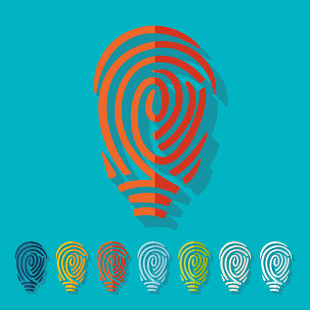 Flat design: fingerprint Vector