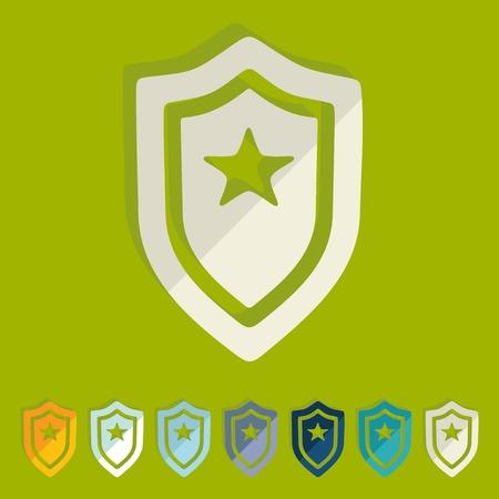 Flat design: police badge Vector