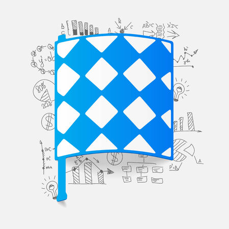 linesman: Drawing business formulas: linesman flag Illustration
