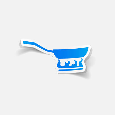 dinnerware: realistic design element: pan Illustration
