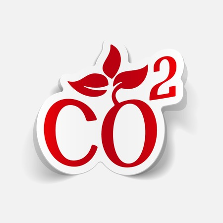 dioxide: realistic design element: co2 sign dioxide