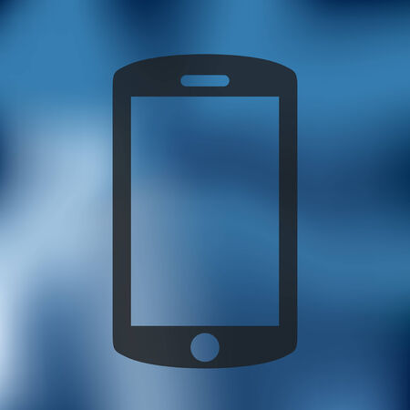 buzzer: smartphone icon on blurred background Illustration