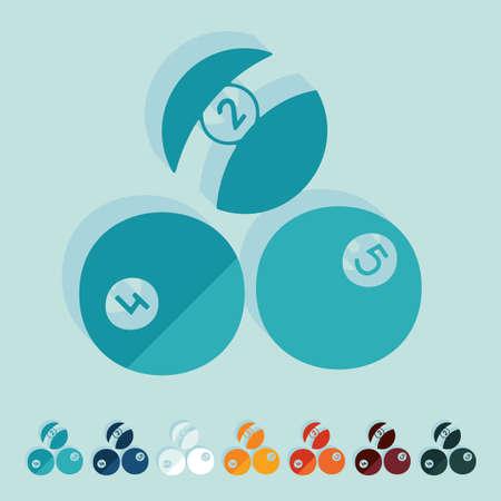 Flat design: billiards Illustration