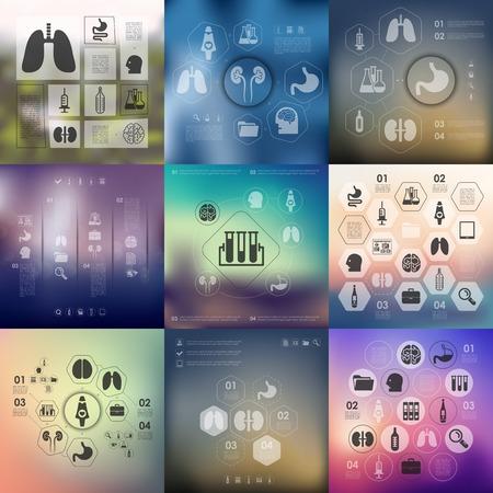 emergencia medica: infograf�a m�dica con fondo desenfocado Vectores