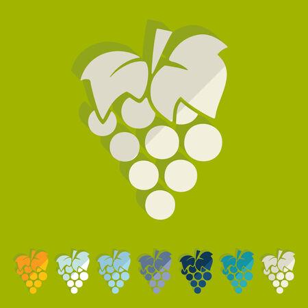 Flat design: grapes Vector