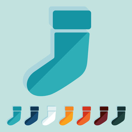 christmas sock: Design piatto: calza di Natale