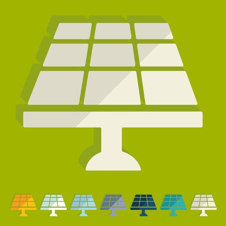 solar battery: Flat design: solar battery Illustration