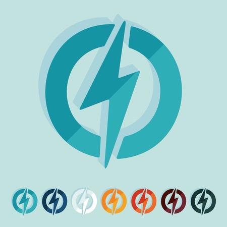 ecological adaptation: Flat design: lightning bolt Illustration