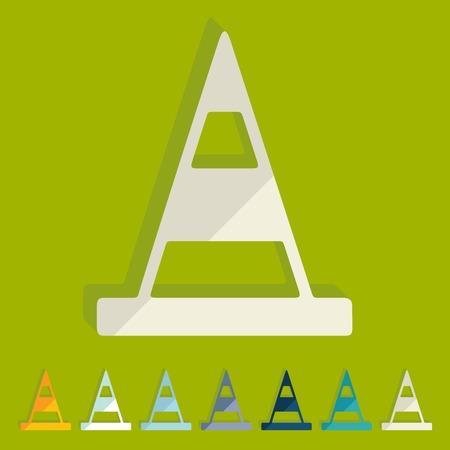 distinction: Flat design: road cones