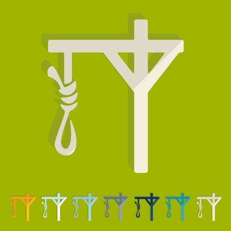 suffocation: Flat design: gallows