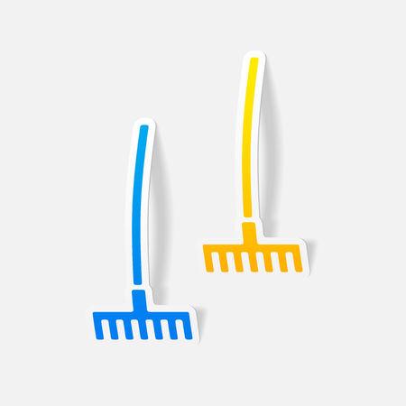 realistic design element: rake Vector