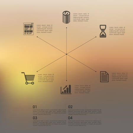 unfocused: business infographic with unfocused background