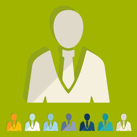 office people: Flat design: office people Illustration