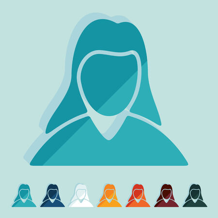 Flat design: woman Vector