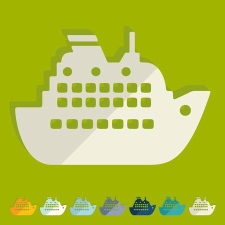 titanic: Flat design: liner Illustration