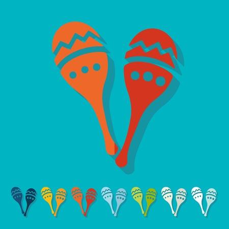 salsa: Flat design: maracas Illustration