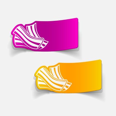 bacon strips: realistic design element: bacon
