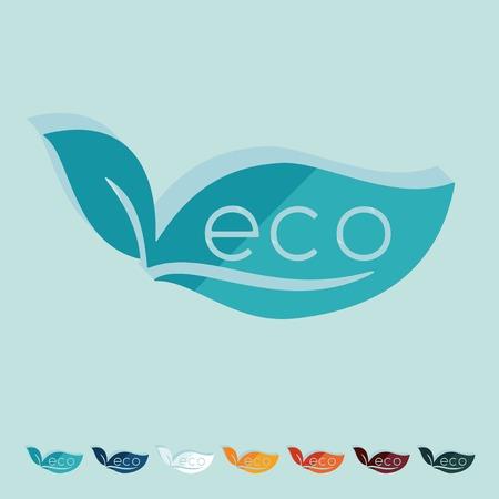 ecologist: Flat design: eco sign leaf