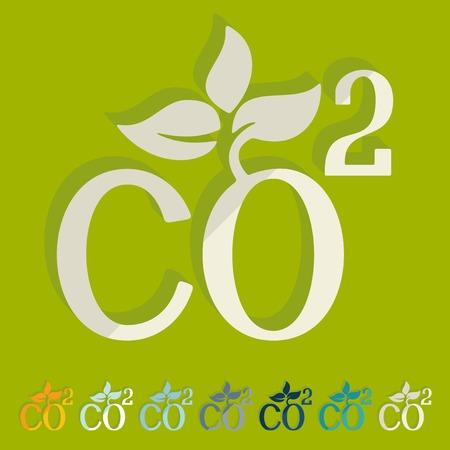 dioxide: Flat design: co2 sign dioxide Illustration