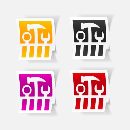 realistic design element: set of tools Vector
