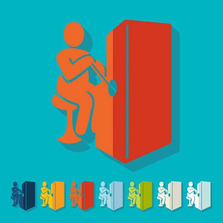slot: Flat design: slot machine Illustration