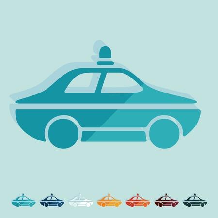politieauto: Platte ontwerp: politiewagen