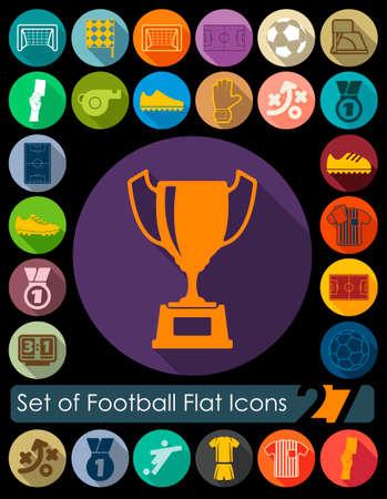 showground: Set of football flat icons