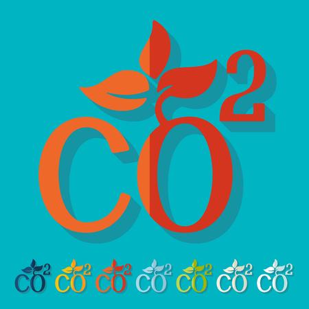 co2: Flat design: co2 sign dioxide Illustration
