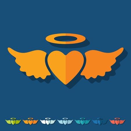 seducer: Flat design: heart angel