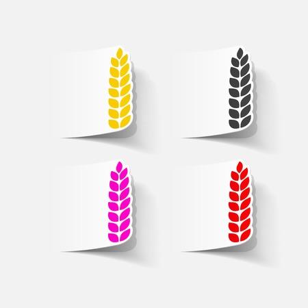 realistische ontwerp element: oren van tarwe
