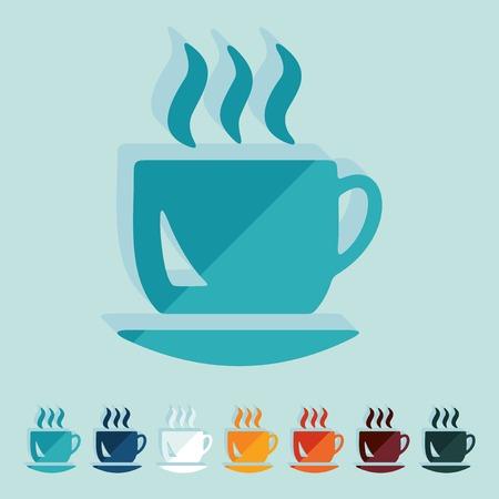 soluble: Flat design: coffee Illustration