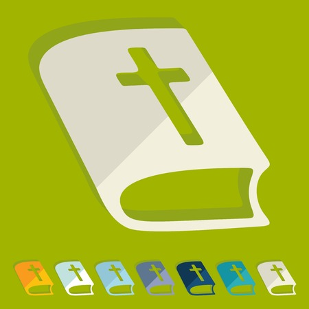 church service: Flat design: bible Illustration