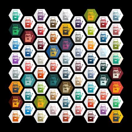 slot machine: Flat design: slot machine Illustration
