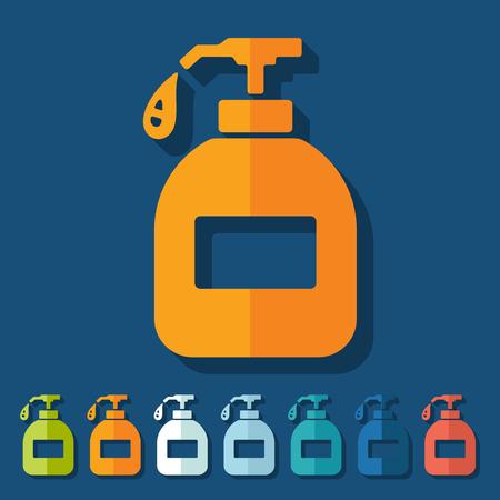 liquid soap: Flat design: liquid soap Illustration