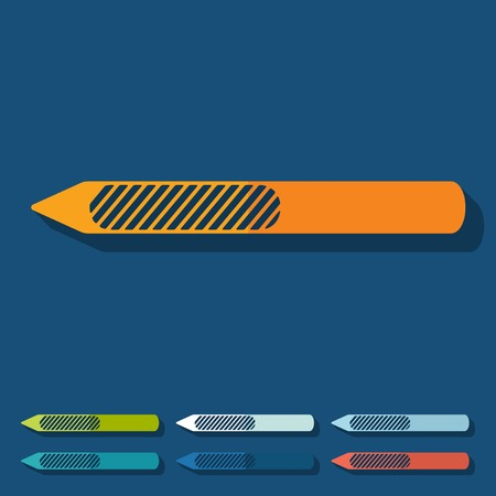 nail file: Flat design: nail file Illustration