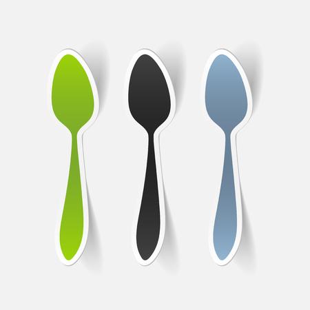 realistic design element: spoon Illustration