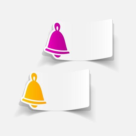 christmas bell: realistic design element: christmas bell Illustration