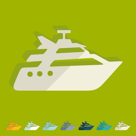 titanic: Flat design: yacht