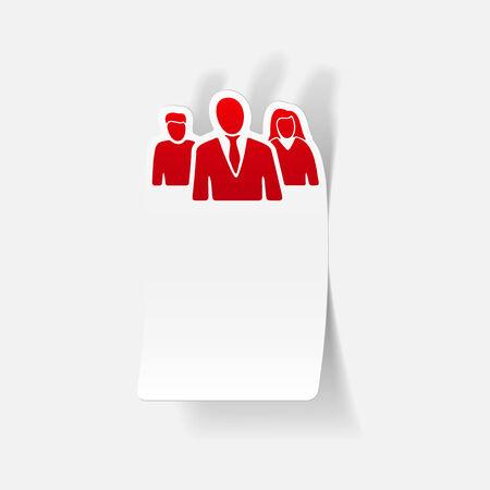 professionalism: realistic design element: business people Illustration
