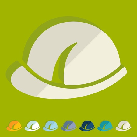 hard cap: Flat design: helmet Illustration
