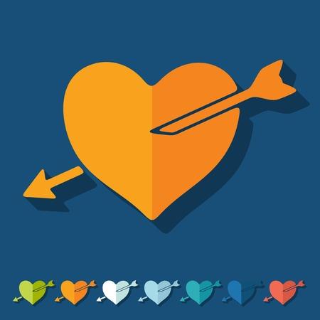 seducer: Flat design: heart Illustration