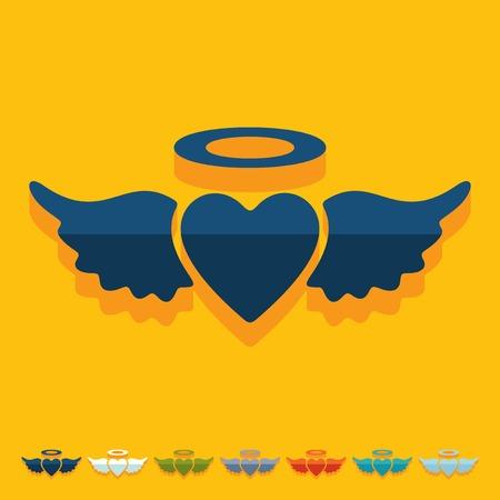 chastity: Flat design: heart angel