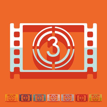 Flat design: countdown Иллюстрация
