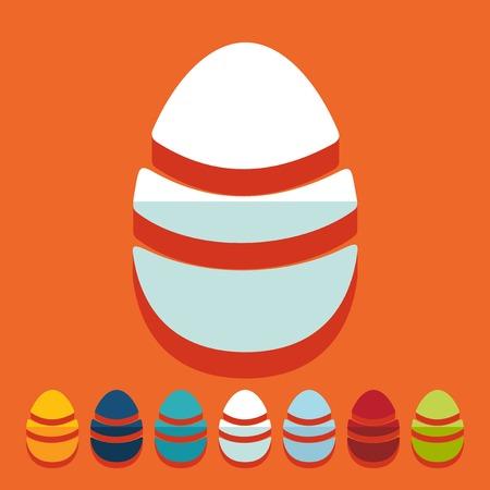 solemn: Flat design: easter egg