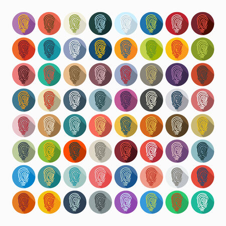 fingerprinting: Flat design: fingerprint Illustration